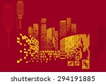 vector design   eps10 building... | Shutterstock .eps vector #294191885