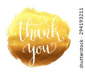 thank you hand lettering on... | Shutterstock .eps vector #294193211