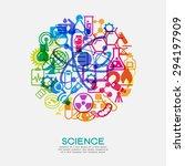 the concept of scientific...   Shutterstock .eps vector #294197909