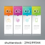 infographic design template can ... | Shutterstock .eps vector #294199544