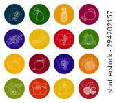 set  colorful icons of fruits...   Shutterstock .eps vector #294202157