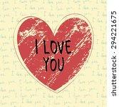 hand drawn heart shape on... | Shutterstock .eps vector #294221675