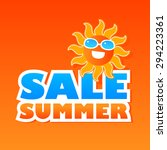 summer sale icon   template for ... | Shutterstock .eps vector #294223361