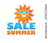 summer sale icon   template for ... | Shutterstock .eps vector #294223364