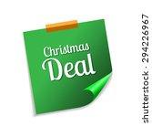 christmas deal green sticky...   Shutterstock .eps vector #294226967