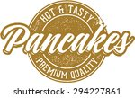 hot breakfast pancakes | Shutterstock .eps vector #294227861