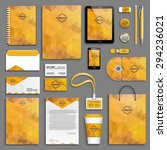 corporate identity template set.... | Shutterstock .eps vector #294236021