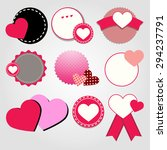 heart vector red symbol element ... | Shutterstock .eps vector #294237791