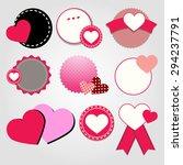 heart vector red symbol element ... | Shutterstock .eps vector #294237791