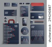 corporate identity template in... | Shutterstock .eps vector #294240887