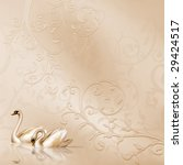 elegant card with wedding design | Shutterstock . vector #29424517