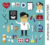 medical icons set in modern... | Shutterstock .eps vector #294247085