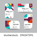 business greeting card template ... | Shutterstock .eps vector #294247391