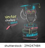 Vector Color Chalk Drawing Of...