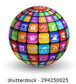 a colorful globe composed by... | Shutterstock .eps vector #294250025