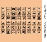 logistic icon packing symbols | Shutterstock .eps vector #294256091
