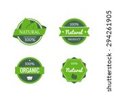 eco labels with retro vintage... | Shutterstock .eps vector #294261905