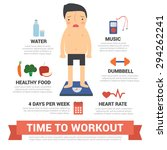 time to workout  diet  gym ... | Shutterstock .eps vector #294262241