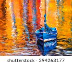 Oil Painting On Canvas Blue...