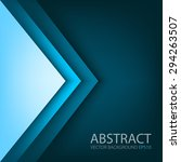 blue triangle background vector ... | Shutterstock .eps vector #294263507