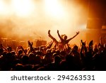 crowd surfing during a musical... | Shutterstock . vector #294263531