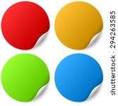 color round stickers with... | Shutterstock .eps vector #294263585
