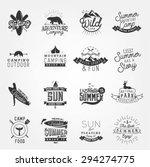 summer camping and beach design ... | Shutterstock .eps vector #294274775