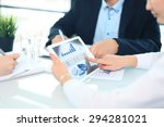 business person analyzing... | Shutterstock . vector #294281021
