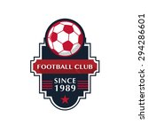 soccer football badge vector... | Shutterstock .eps vector #294286601