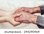 hands of the old man and a... | Shutterstock . vector #294290969