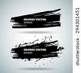 grunge vector banner. eps10... | Shutterstock .eps vector #294301451