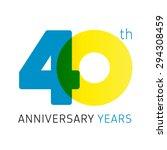 40 years old celebrating... | Shutterstock .eps vector #294308459