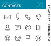 contacts vector outline icon... | Shutterstock .eps vector #294319475