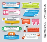 quotation marks. speech banner. ... | Shutterstock .eps vector #294332165