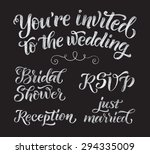 vector wedding design template... | Shutterstock .eps vector #294335009