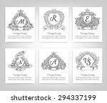 vintage style monogram symbol... | Shutterstock .eps vector #294337199