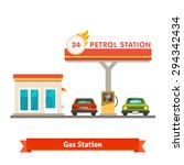 petrol station with two cars....   Shutterstock .eps vector #294342434