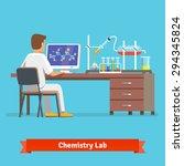 medical chemistry lab worker... | Shutterstock .eps vector #294345824