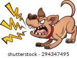 cartoon barking dog. vector...