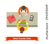 top view of a retail sale.... | Shutterstock .eps vector #294355049