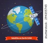telecommunication satellite on... | Shutterstock .eps vector #294355745