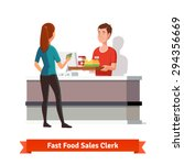 Sales Clerk At Fast Food...