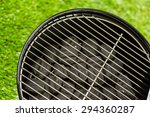 small round charcoal grill... | Shutterstock . vector #294360287