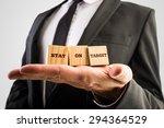 businessman holding three...   Shutterstock . vector #294364529
