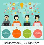 teamwork and coworking concept  ... | Shutterstock .eps vector #294368225