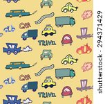 hand drawn doodle style cars...   Shutterstock .eps vector #294371429