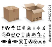 set of packing symbols with two ... | Shutterstock .eps vector #294372305