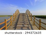 beautiful wooden bridge in... | Shutterstock . vector #294372635