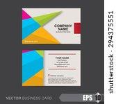 business card template vector... | Shutterstock .eps vector #294375551