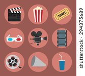 cinema icons set for use in... | Shutterstock .eps vector #294375689